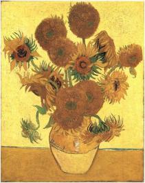 Still Life - Vase with fifteen sunflower, 1888