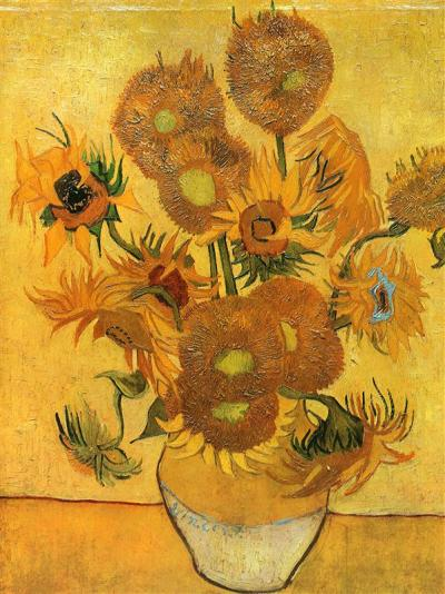 Still life vase with fifteen sunflowers, 1888