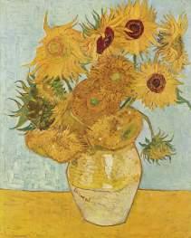 Still Life - Vase with twelve sunflowers, 1889